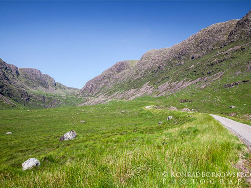 Driving up Bealach na Ba